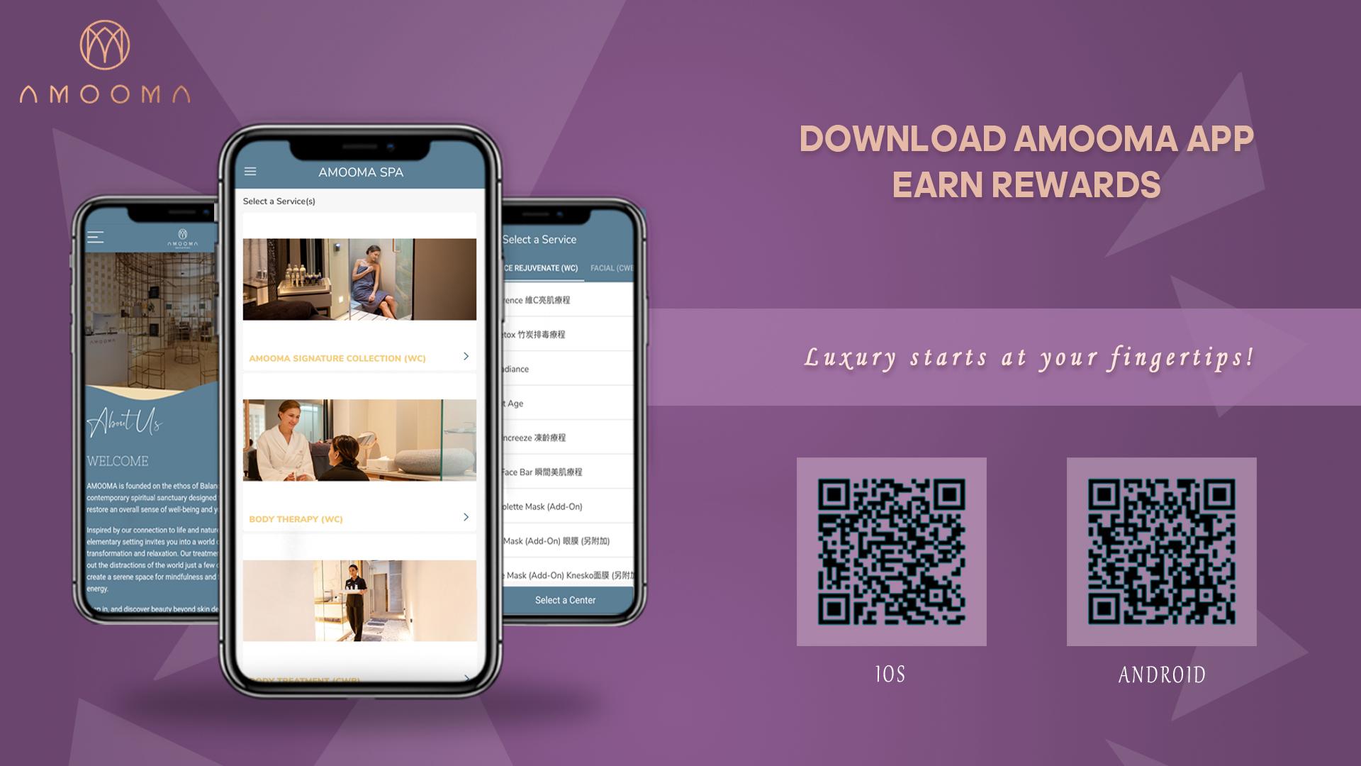 Download AMOOMA App & Earn Rewards – AMOOMA Spa & Sanctuary